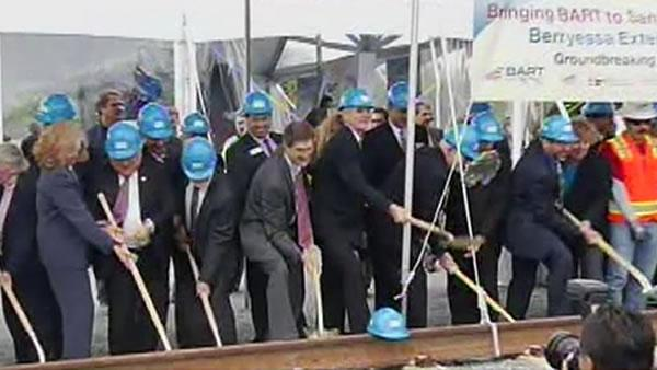 BART breaks ground on first San Jose station