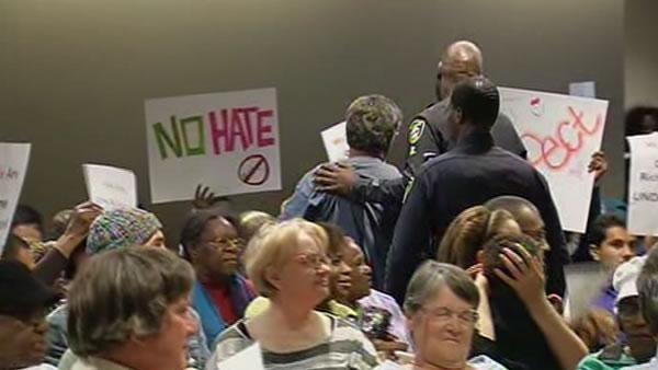 Tensions boil at Richmond meeting over gay rights