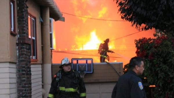 Two SF firefighters injured in four-alarm fire