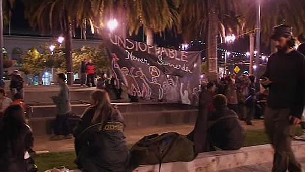 San Francisco Occupiers demonstrate peacefully