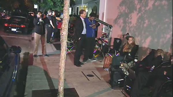 iPhone fans wait in line overnight