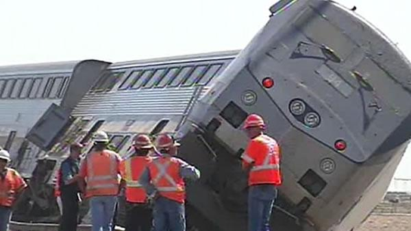 20 injured in collision between Amtrak train, big-rig
