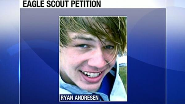Gay teen denied Eagle Scout honor
