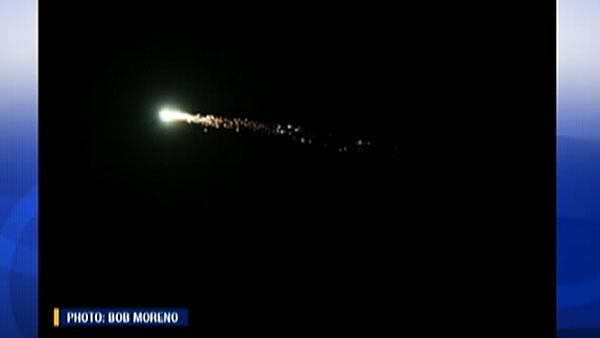 Meteor streaks across sky over Bay Area