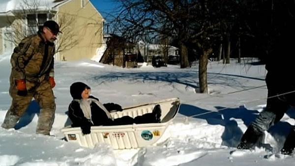 Expecting mother gets to hospital by sled