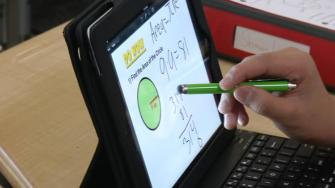 math lesson on an iPad