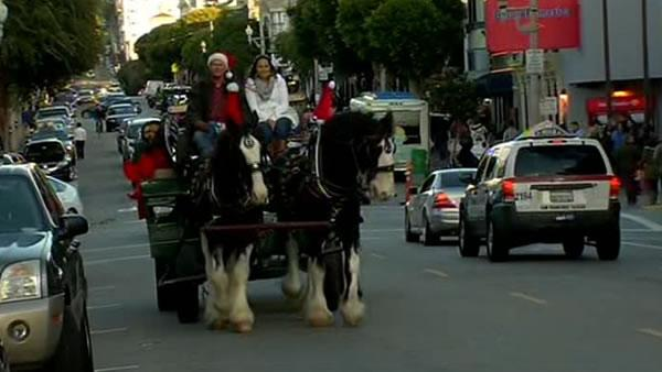 Holiday tradition underway in SF despite chilly temps