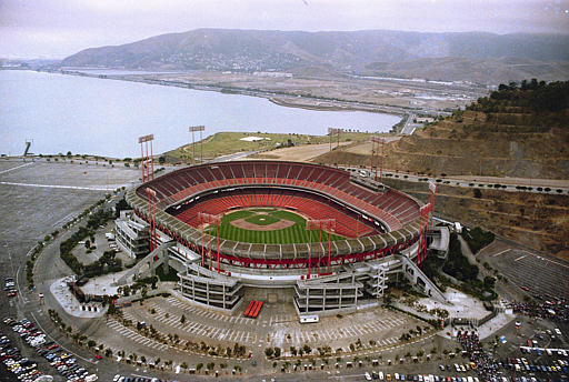 "<div class=""meta ""><span class=""caption-text "">Candlestick Park 1989 - This is an aerial view of San Francisco's Candlestick Park, seen 1989. (AP Photo)</span></div>"