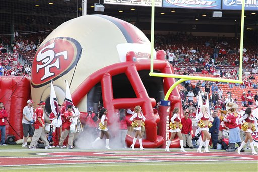 "<div class=""meta ""><span class=""caption-text "">The field at Candlestick Park before the San Francisco 49ers NFL preseason football game against the San Diego Chargers in San Francisco, Thursday, Sept. 2, 2010. (AP Photo/Tony Avelar)</span></div>"
