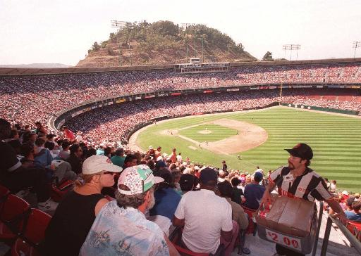 "<div class=""meta ""><span class=""caption-text "">A full house is on hand at Candlestick Park to watch the Giants and Atlanta Braves battle it out for first place in the National Leage West pennant race, Aug. 25, 1993 in San Francisco. (AP Photo)</span></div>"