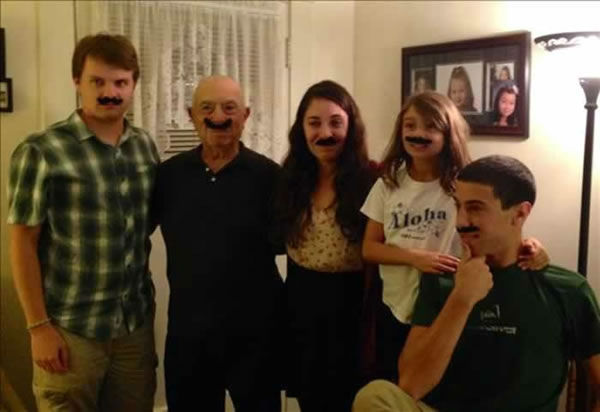 "<div class=""meta image-caption""><div class=""origin-logo origin-image ""><span></span></div><span class=""caption-text"">We celebrated my father's 85th Birthday and showed support for No Shave November by wearing mustaches. ABC7 wants to see YOUR mustache! Upload a pic to Instagram or Twitter using #ABC7Movember! (Photo submitted by Tessie C. via uReport)</span></div>"