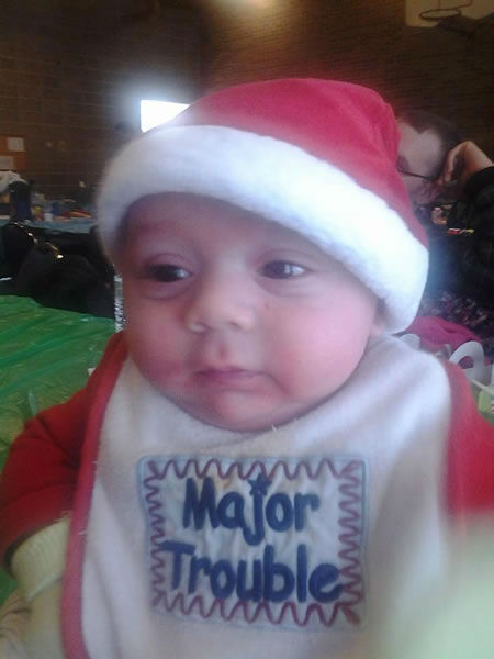 "<div class=""meta ""><span class=""caption-text "">Julian's first Christmas photo. Christmas 2013. Send your holiday photos to uReport@kgo-tv.com! (Photo submitted by Josephine Y. via Facebook)</span></div>"