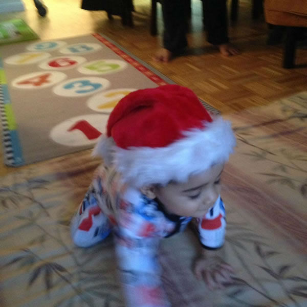 Cute Vihaan. Happy holidays! (Photo submitted by Manju K. via Facebook)