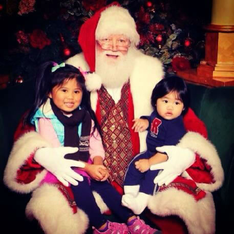Our babies Emma and Max with Santa. Submit your holiday pics to ABC7 News by using #abc7holiday! (Photo submitted by Lynn D. via Facebook)
