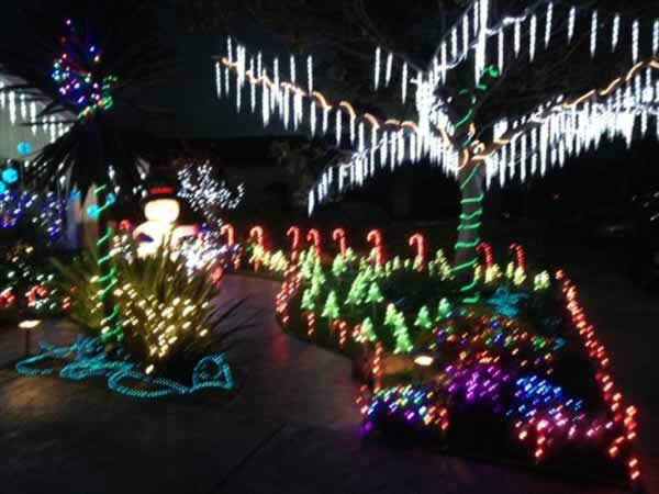 "<div class=""meta ""><span class=""caption-text "">Dec 13 through Dec 22 Queen Anne Court in Union City is lit up and the residents collect food for the Alameda County Food Bank. Show ABC7 your holiday decorations by sending a pic to uReport@kgo-tv.com! (Photo submitted by William S. via uReport)</span></div>"