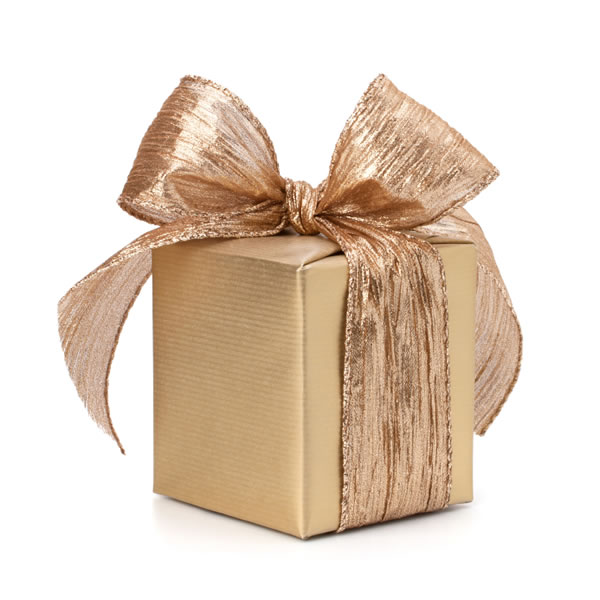 Don't get caught! Rewrap the gifts and look for notes tucked away within the present.