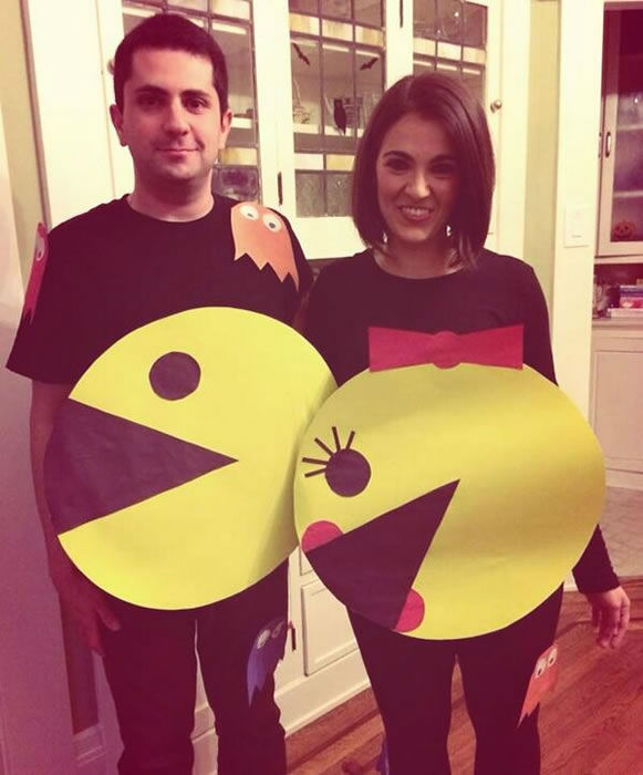 """My fiance and I as the future Mr. and Mrs. Pacman! (Submitted by @1inEMILIAn via Twitter)"