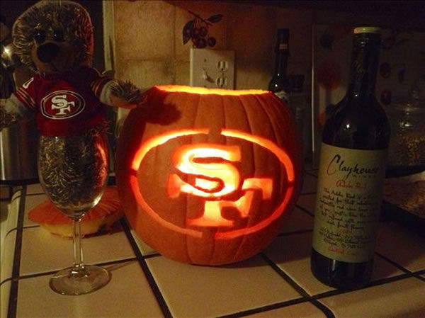 49er pumpkin! (Submitted via uReport)