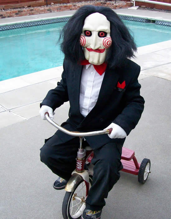 costume ideas - bill the puppet from the saw