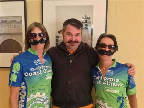 Three friends celebrating Movember! Submit your mustache pics by using #ABC7Movember! (Photo submitted by adairweat via uReport.)