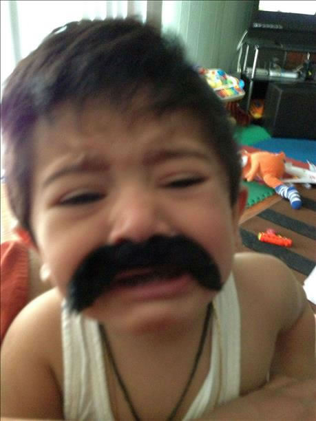 "<div class=""meta ""><span class=""caption-text "">My kids with their mustache. They want to have mustache like daddy! Send in your Movember pictures to uReport@kgo-tv.com! (Photo submitted via uReport)</span></div>"