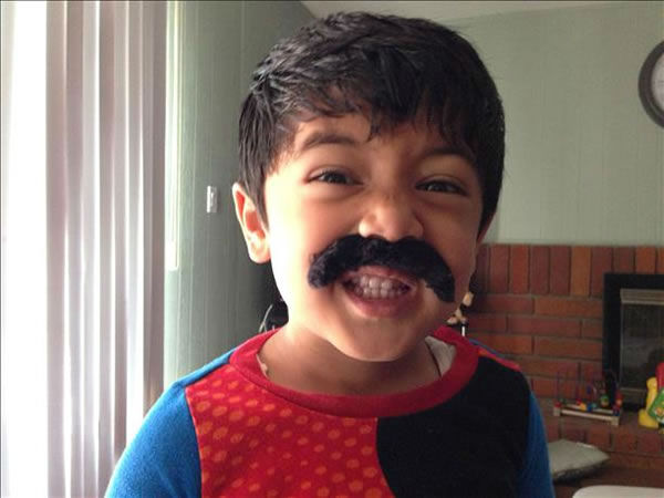 My kids with their mustache. They want to have mustache like daddy! Show us your Movember mustache pictures by uploading them to Instagram or Twitter using #ABC7Movember. (Photo submitted via uReport)