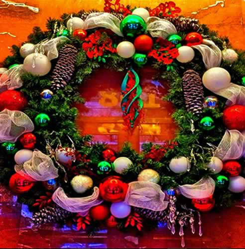 Check out this festive pic of the Christmas wreath in @Rafael415's office lobby! Send ABC7 your hoilday photos to uReport@kgo-tv.com! (Photo submitted via Instagram)