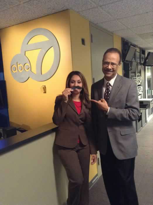 "<div class=""meta image-caption""><div class=""origin-logo origin-image ""><span></span></div><span class=""caption-text"">Sandhya Patel wants to get in on the Movember fun but Spencer Christian seems unimpressed by her imposter 'stache! Show ABC7 YOUR Movember pic by sending it in to uReport@kgo-tv.com!</span></div>"