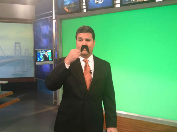 Mike Nicco shows off his impressive mustache! Show yours off by uploading it to Instagram or Twitter with #ABC7Movember!