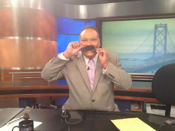 Eric Thomas artfully arranges his mustache! Show ABC7 your mustache by uploading a pic to Instagram or Twitter using #ABC7Movember!