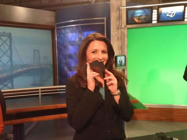 Katie Marzullo looks great with her Movember mustache! Send your Movember mustache pics in to uReport@kgo-tv.com!