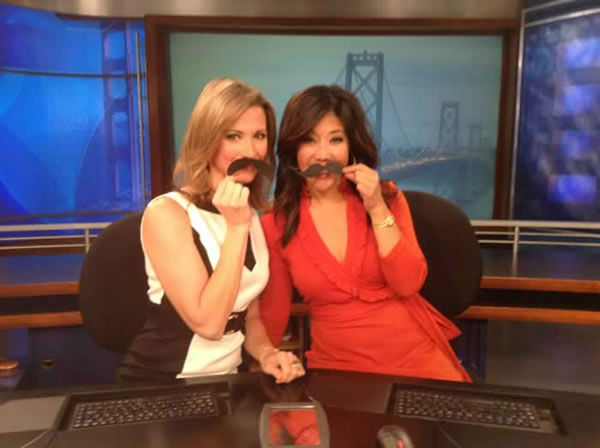 ABC7 Morning News anchors Leyla Gulen and Kristen Sze couldn't grow their own mustaches so they used these instead! Send your Movember mustache pic to uReport@kgo-tv.com!