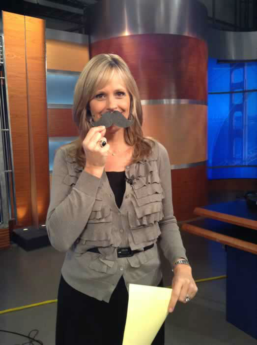 Carolyn Johnson wears her mustache proudly on the set of ABC7 news! If you're proud of YOUR mustache, send ABC7 a pic by uploading it to Twitter or Instagram using #ABC7Movember!