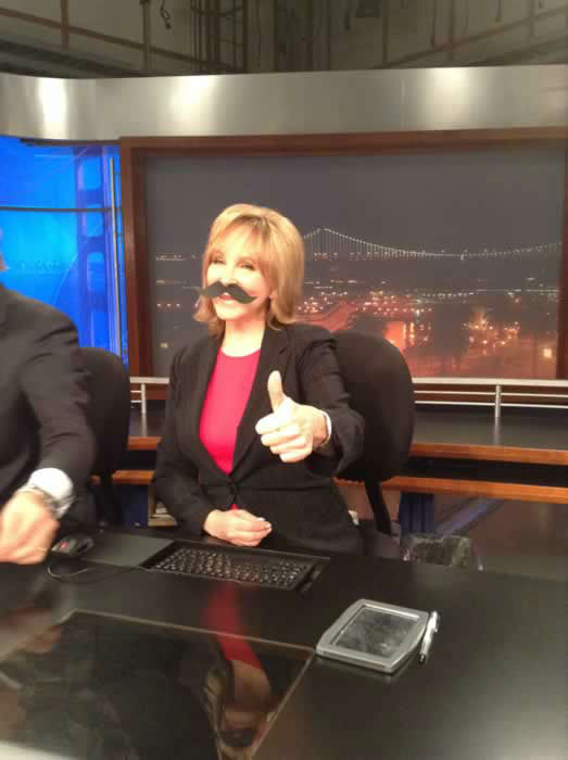 Cheryl Jennings gives the thumbs up to all those Movember mo bros out there! Are you a mo bro? Send your 'stache pic to uReport@kgo-tv.com!