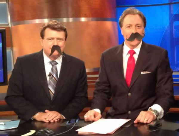 Michael Finney and Dan Ashley look very sophisticated with their mustaches! Show off your Movember 'stache by uploading a pic to Instragram or Twitter using #ABC7Movember!