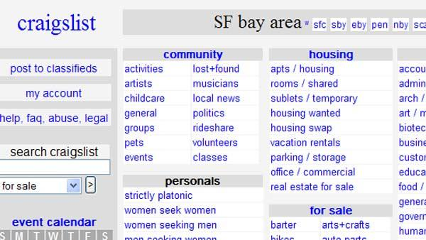 craigslist sf bay area jobs apartments personals for