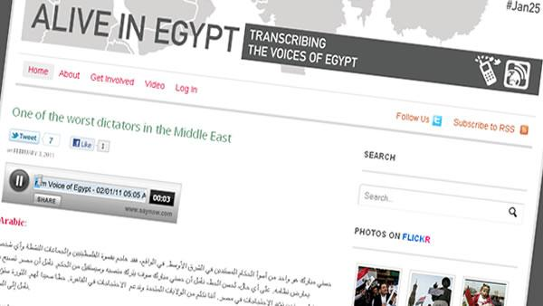 Social media gives voice to Egyptian people