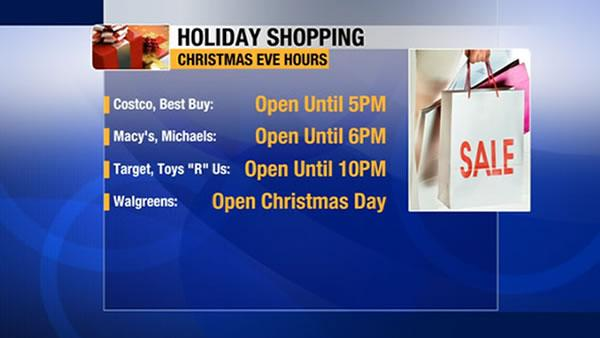 Last minute shoppers find Christmas Eve deals