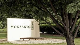 In this June 29, 2006 file photo, a sign at the Monsanto Co. headquarters in St. Louis is seen.