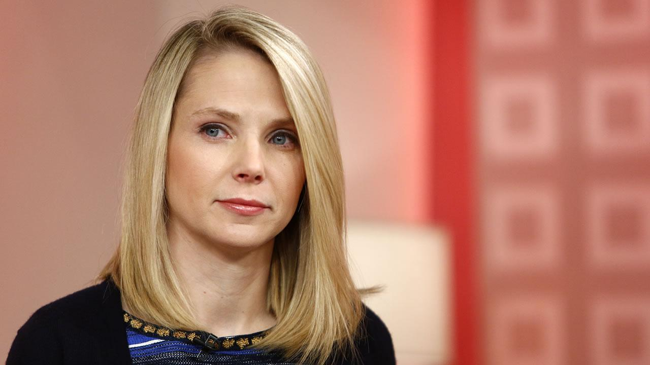 This image released by NBC shows Yahoo CEO Marissa Mayer appearing on NBC News Today show, Wednesday, Feb. 20, 2013 in New York to introduce the websites redesign.