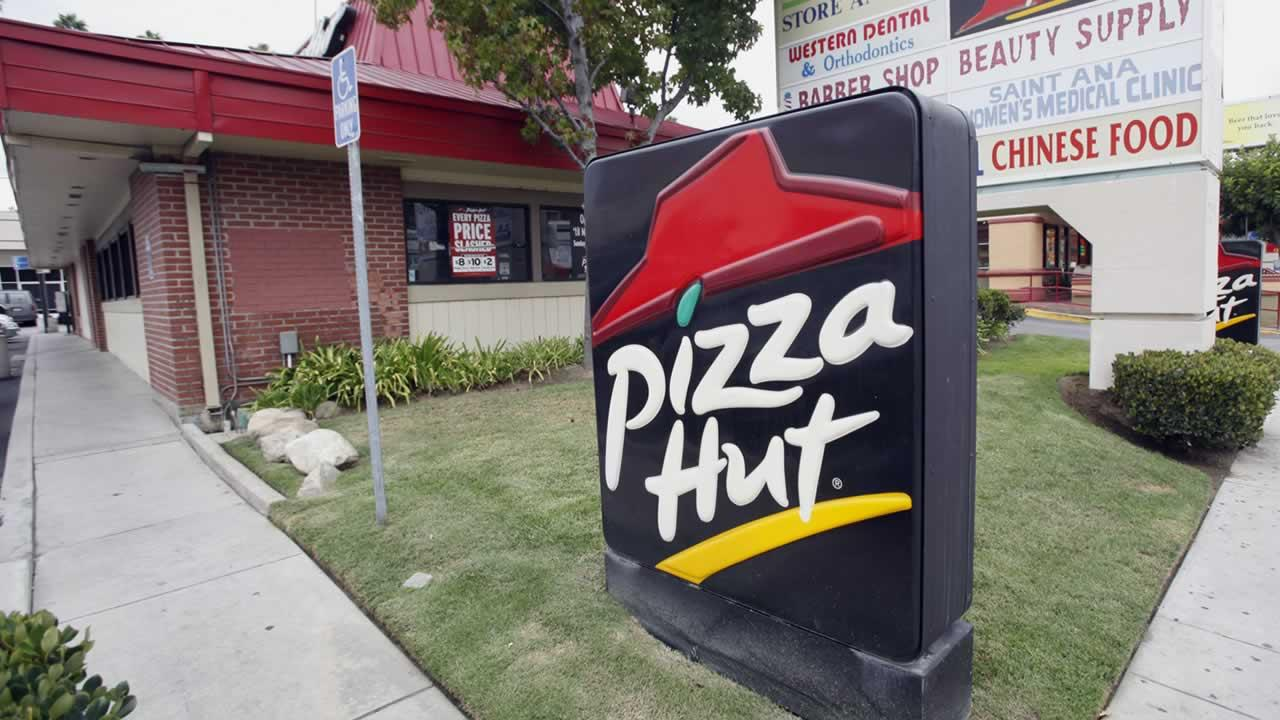A Pizza Hut restaurant is seen in Los Angeles Tuesday, Oct. 5, 2010. (AP Photo/Reed Saxon)