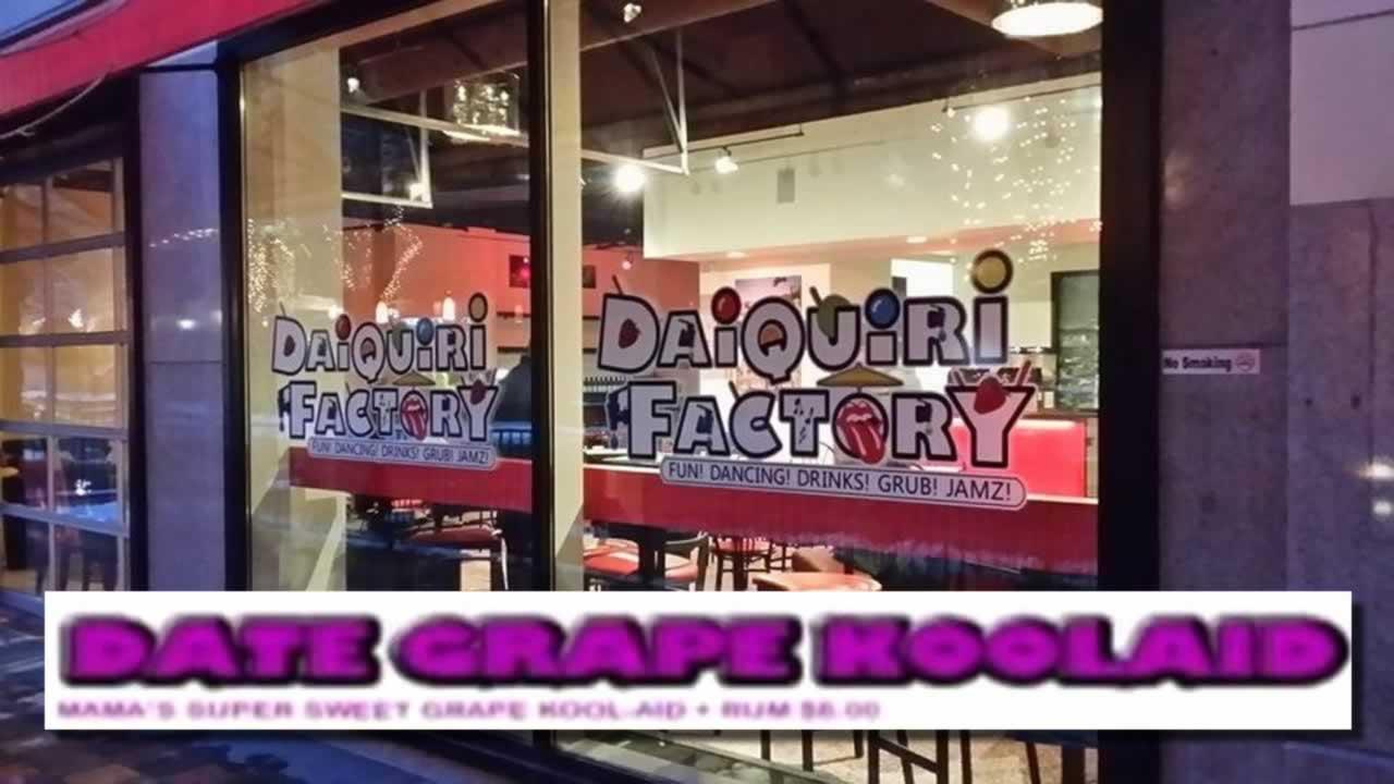 The Daiquiri Factory Date Grape drink