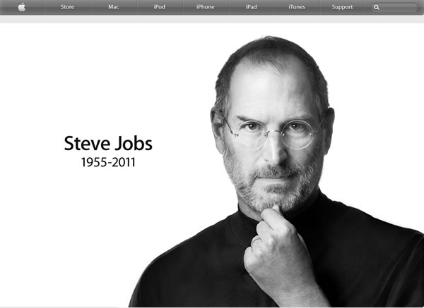 Apple website&#39;s front page image on October 5, 2011. <span class=meta>(Apple website)</span>