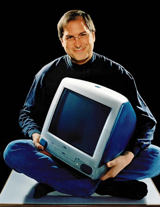 This 1998 file photo provided by Apple shows Apple CEO Steve Jobs holding an iMac computer. Apple Inc. on Wednesday, Aug. 24, 2011 said Jobs is resigning as CEO, effective immediately. He will be replaced by Tim Cook, who was the company&#39;s chief operating officer. It said Jobs has been elected as Apple&#39;s chairman. <span class=meta>(AP Photo&#47;Moshe Brakha)</span>