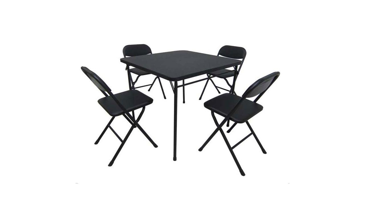 Walmart Mainstays five-piece card table and chairs set. (CPSC)