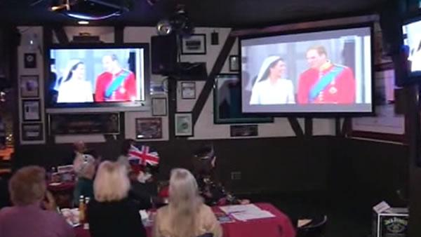 Anglophiles gather to watch royal wedding