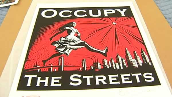 Occupy movement center of new art exhibit
