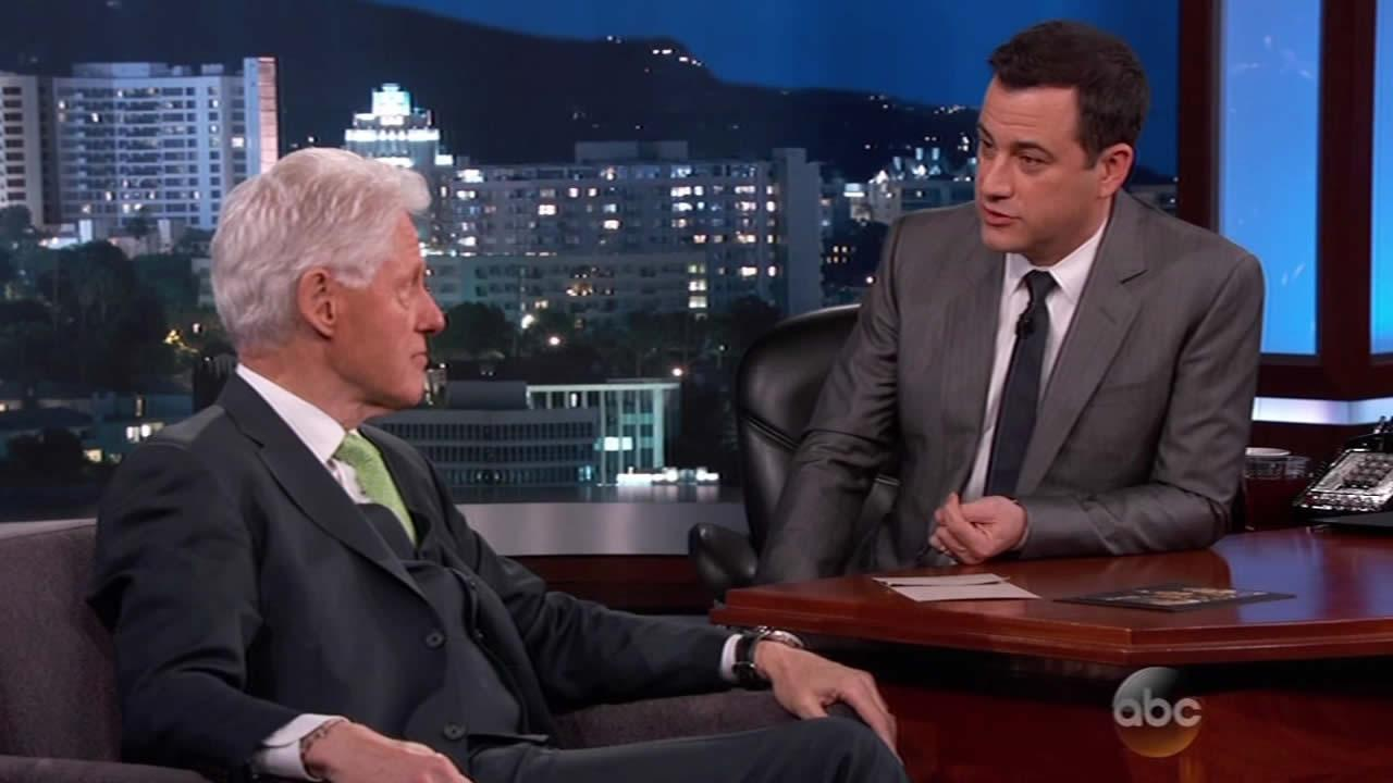 Former President Bill Clinton on Jimmy Kimmel Live