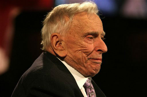 Gore Vidal smiles after speaking at the National Book Awards Wednesday Nov. 18, 2009 in New York. Vidal was presented with the Medal for Distinguished Contribution to American Letters. &#40;AP Photo&#47;Tina Fineberg&#41; <span class=meta>(AP Photo&#47; Tina Fineberg)</span>