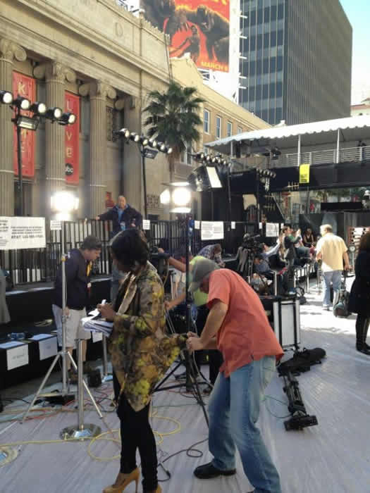 Here&#39;s a behind the scenes look at the preparations for the 84th Academy Awards! <span class=meta>(@7LiveLos)</span>